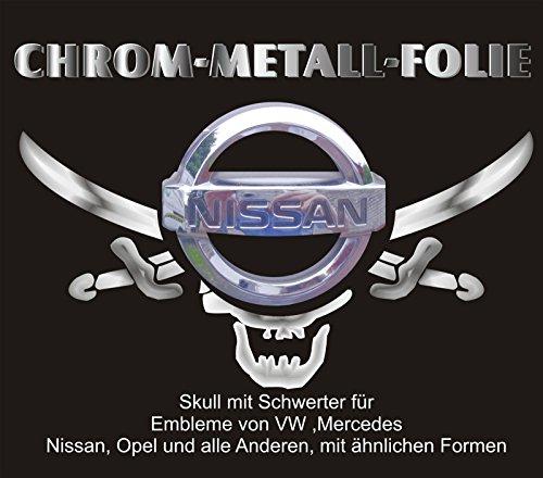 3 D Chrom Emblem Sticker Pirat VW Mercedes Nissan BMW OPEL Renault u. Ähnliche