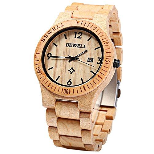 Holz Armbanduhr Square Maple ~ Hand Made Holz Armband, megadream Herren Holz Armbanduhr Herren Quarz