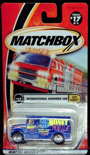Matchbox 2001-17/75 City Dudes International Armored Car 1:64 Scale