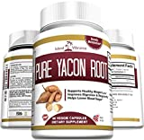 Pure Yacon Root Powder Extract Capsules - All Natural Potent Prebiotic Supplement Promotes Detox and Cleanse, Weight Loss, Healthy Digestion, Boosts Metabolism, and Suppresses Appetite - 60 Caps - Full 30 Day Supply - Made in USA