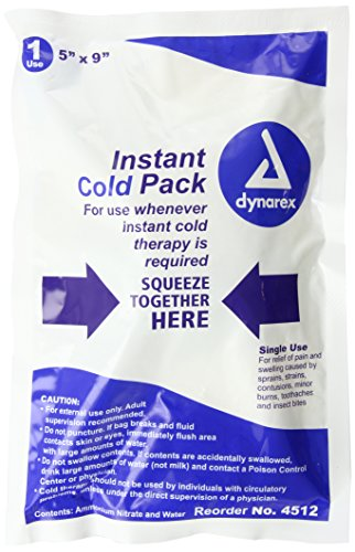 Dynarex Instant Cold Pack, 5 Inches x 9 Inches, 24-Count (Instant Cold Packs Bulk compare prices)