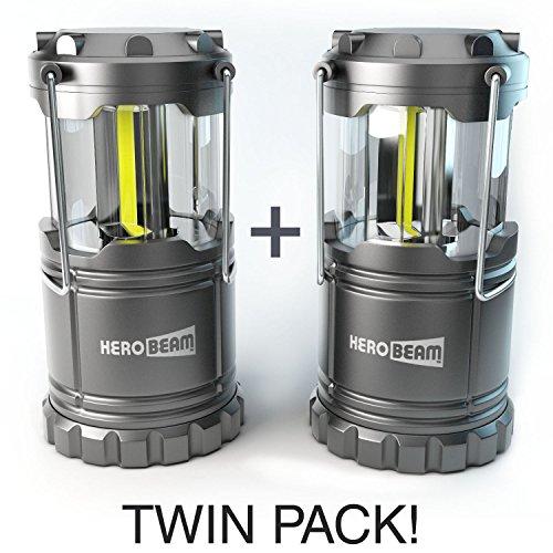 2-x-HeroBeam-LED-Laterne-2016-COB-Technologie-mit-300-LUMEN-Zusammenklappbare-Campinglampe-Groartig-bei-Camping-im-Auto-Schuppen-Dachboden-Garage-Stromausfllen-5-JAHRE-GARANTIE