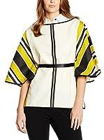 Divina Providencia Camisa de Lino (Crudo / Amarillo / Negro)