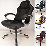RayGar Deluxe Padded Sports Racing Gaming Chair – Black