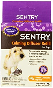 SERGEANT'S 484246 Sentry Calming Diffuser for Refill for Dogs, 1.5-Ounce Lavender chamomile fragrance.