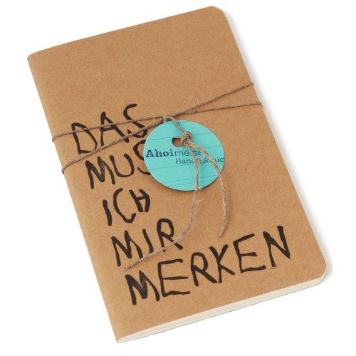 Notizheft 'DAS MUSS ICH MIR MERKEN' - A6, handbedruckt +++ Natur