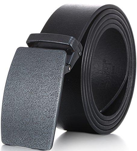 Marino Men's Jeans Plaque Genuine Leather Belt, 1.5