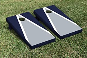 Gray & Navy Blue Triangle Cornhole Boards Game Set by Victory Tailgate (24x48... by Victory Tailgate