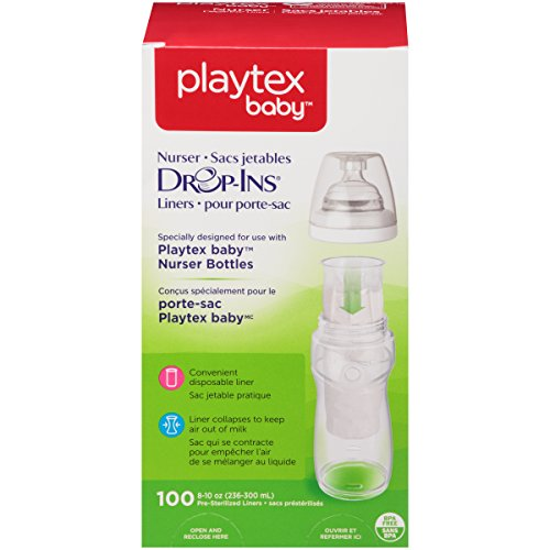 Playtex Drop-Ins BPA-Free Bottle Liners for Playtex Nurser Bottles - 8 Ounce - 100 Count (Playtex Baby Liners compare prices)