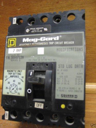 Square D Fal3600712M Circuit Breaker 7Amps