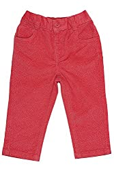 Chirpie Pie by Pantaloons Girl's Regular Fit Pants(205000005616812, Red, 3-6 Months)