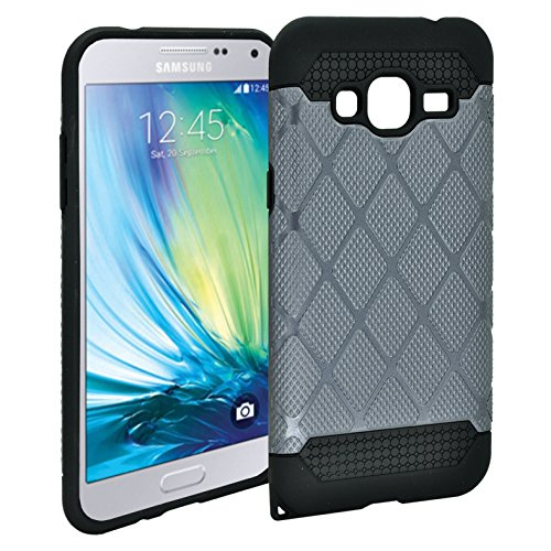Galaxy J3 case, Customerfirst [Shock Absorption] Hybrid Dual Layer Armor Defender Protective Case Cover for Samsung Galaxy J3 (Gun Metal)