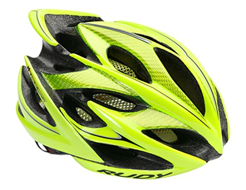 Rudy Project Windmax Casco, Yellow Fluo Shiny, S/M