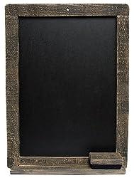 Large Primitive Blackboard with Eraser and Chalk Shelf