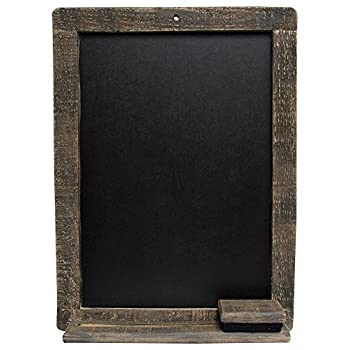 "CWI Gifts Weathered Natural Wood Blackboard with Matching Eraser, 15"" x 11"""