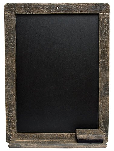 CWI Gifts Weathered Natural Wood Blackboard with Matching Eraser, 15