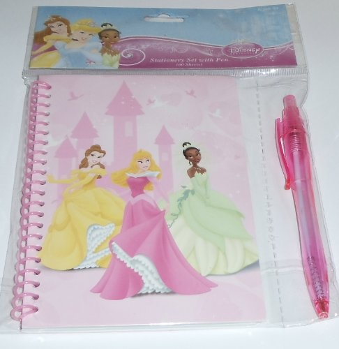 Disney Princess Stationery set with 60 pages and pen - 1