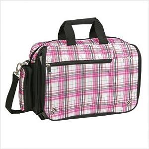 OGIO Street City Corp Messenger Bag (Pink Plaid)