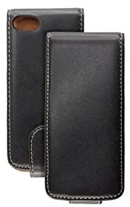 Caseit Leather Effect Flip Case for iPhone 5 - Black