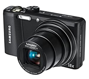 SAMSUNG Samsung WB750 - Digital camera - 3D - compact - 12.5 Mpix - 18 x optical zoom - Schneider - black Plus 8 GB SDHC Memory Card Plus SLB11 Battery Plus Compact Camera Case