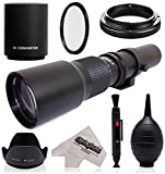 Super 500mm 1000mm f 8 Manual Telephoto Lens for Kodak PIXPRO Compact System S-1 Digital Camera