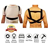 FOMI Posture Corrector Back Brace- Premium Elastic Comfort, Three Easy Steps To Put On, Firm, Light Weight, Velcro, Washable. For Sprains, Fractures, Neck, Shoulders. STAND, SIT, WALK, LIE STRAIGHT!