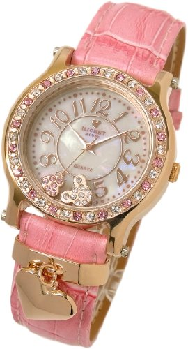 [Disney] Disney watch with heart charm Mickey watch pink x pink regular domestic