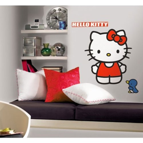 Hello Kitty Wall Accent Sanrio Classic Kitty Giant Decal - 1