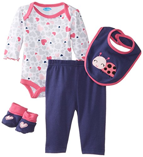 Bon Bebe Baby-Girls Newborn Ladybug 4 Piece Pant Set, Multi, 0-3 Months front-1007070