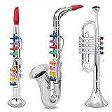 Set of 3 Toy Music Instruments 1. Clarinet 2. Saxophone 3. Trumpet, Combo