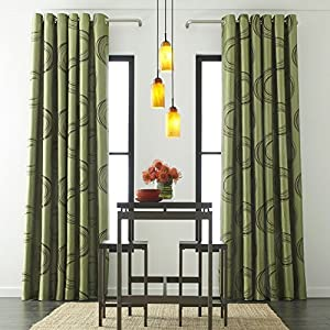 studio focus grommet top curtain panel teak dune dark