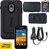 Otterbox Commuter Case for Sprint Samsung Galaxy S2 Epic 4g Touch D710 & R760 Black, Leather Horizontal Case that fits your phone with the Otterbox on it, Heavy Duty Car Charger & Anti Radiation Shield