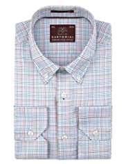 Sartorial Luxury Pure Cotton Multi-Checked Shirt