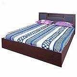 Zuari Bogoto King Size Bed with Storage (Honey Finish, Brown)