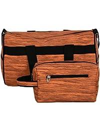 Balachia Gym Bag With Free Toiletry Bag (Brown)