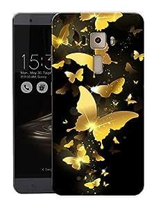 "Golden ButterfliesPrinted Designer Mobile Back Cover For ""Asus Zenfone 3 Laser"" (3D, Matte, Premium Quality Snap On Case)"