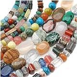 Beadaholique Gemstone Bead Lot Mix No.2 Assorted Shapes, 70-Inch