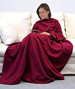 napa soft wearable fleece blanket with sleeves and oversized pockets adult snuggie. Black Bedroom Furniture Sets. Home Design Ideas