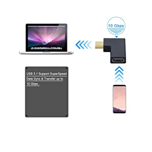Plus Cell Phone Back To Search Resultscomputer & Office 90 Degree Right & Left Angled Usb Type C 3.1 Type-c Male To Female Extension Connector Adapter For Galaxy S8 S8