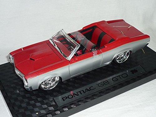 pontiac-gto-1968-cabrio-rot-silber-tuning-1-24-malibu-modellauto-modell-auto
