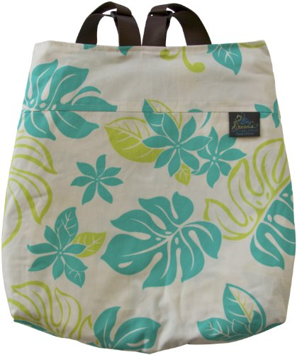 Sky Dreams Travel Blanket Kaianna Green Paradise Backpack Green front-252839