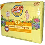 Earth's Best Chlorine Free Diapers Size 4 -- 30 Diapers