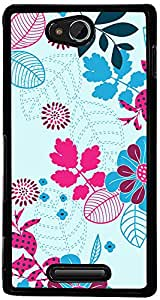 PrintVisa Pattern Abstract Floral Case Cover for Sony Xperia C