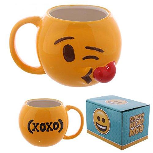 Tazza mug colazione in ceramica EMOJI EMOTICON BACIO