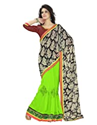 Dealtz Fashion Vibrant Colored Sleek Border Festive Saree