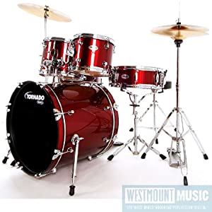 Mapex Tornado Full 5 Piece Fusion Drum Kit with Hardware, stool and sticks (from Westmount Music)