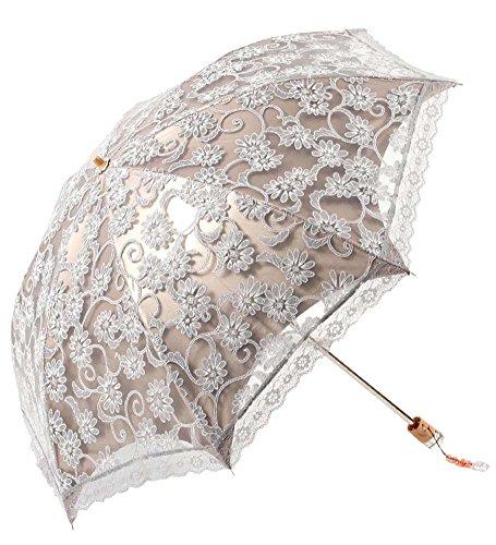 zero transmittance super prevent sun index 50 two folding ladies umbrella thicken lace female. Black Bedroom Furniture Sets. Home Design Ideas