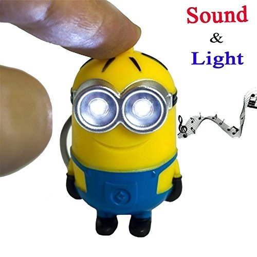 fairy tale Despicable Me PVC Minions LED Keychain