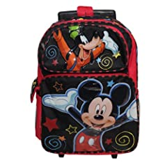 Disney Mickey Mouse and Goofy Roller Backpack Bag