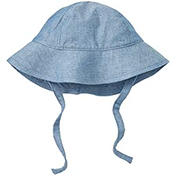 Hanna Andersson Baby Floppy Sun Hat, Size XXS (0-3 Months), Extra Light Flecked Chambray
